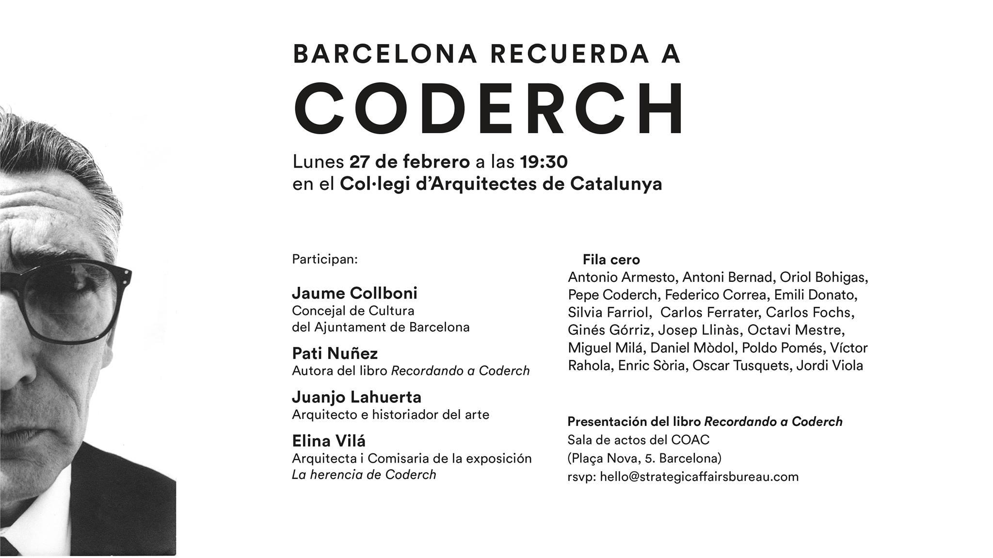 """Elina participa en el homenaje """"Barcelona recuerda a Coderch"""""""