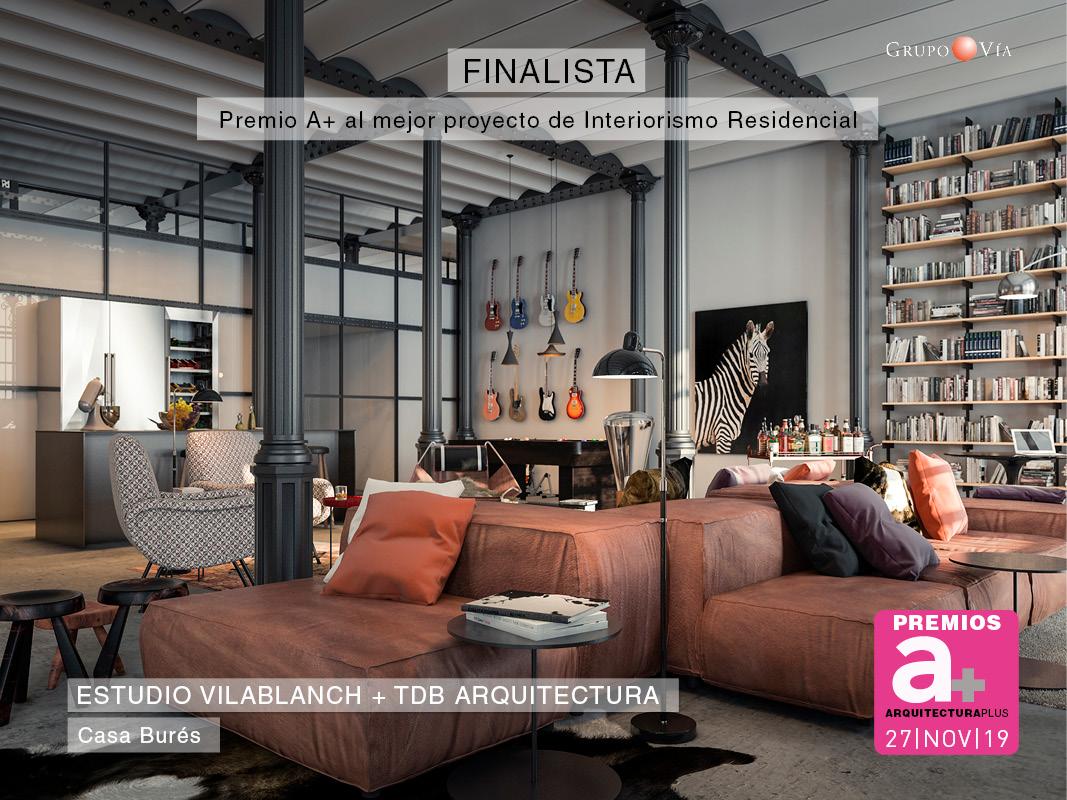 Casa Burés finalista en los premios Arquitectura Plus 2019