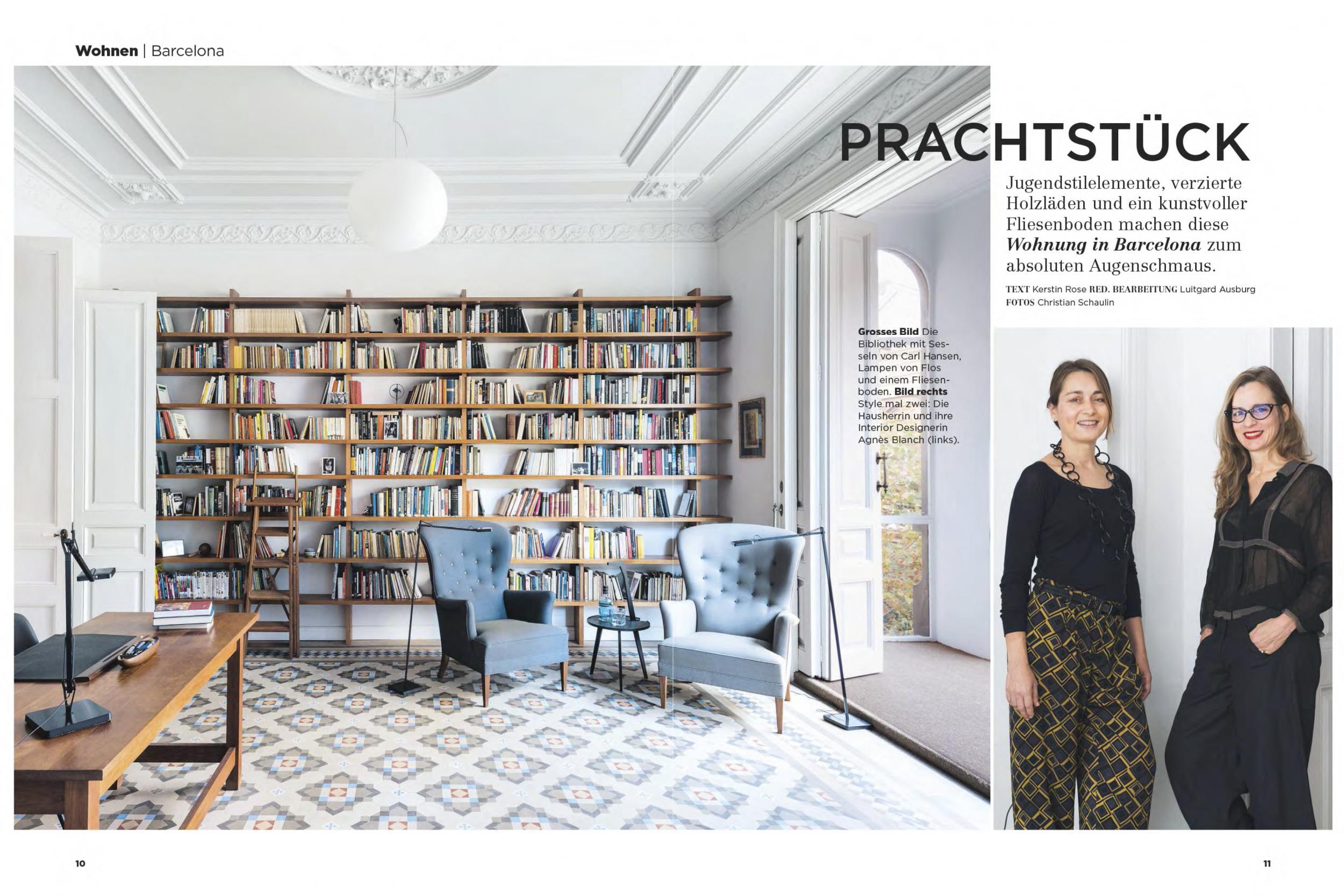 Barcelona Wohnen vilablanch studio in the german magazine modern wohnen vilablanch