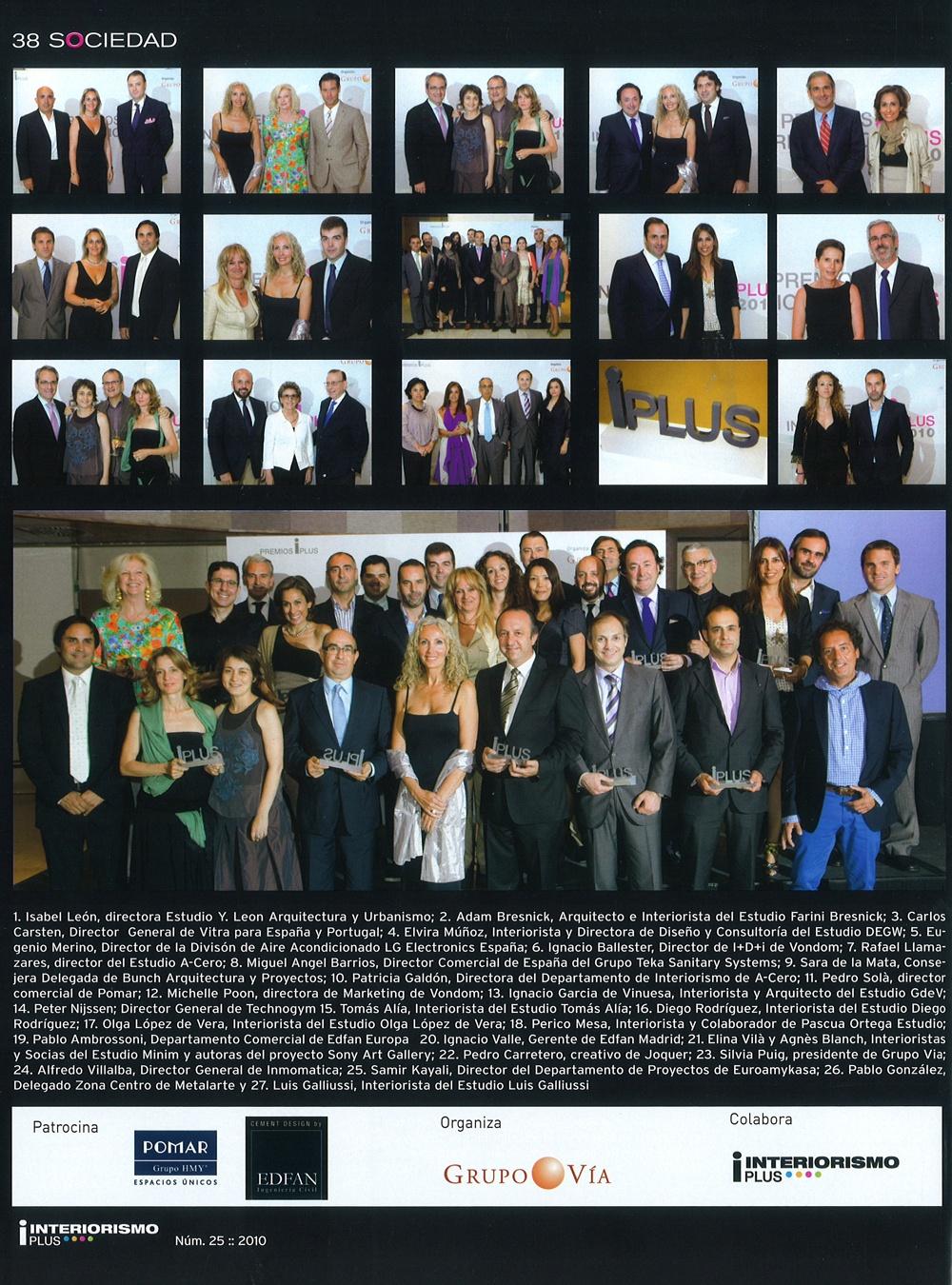 iPlus 2010 Awards, Premios IPlus 2010
