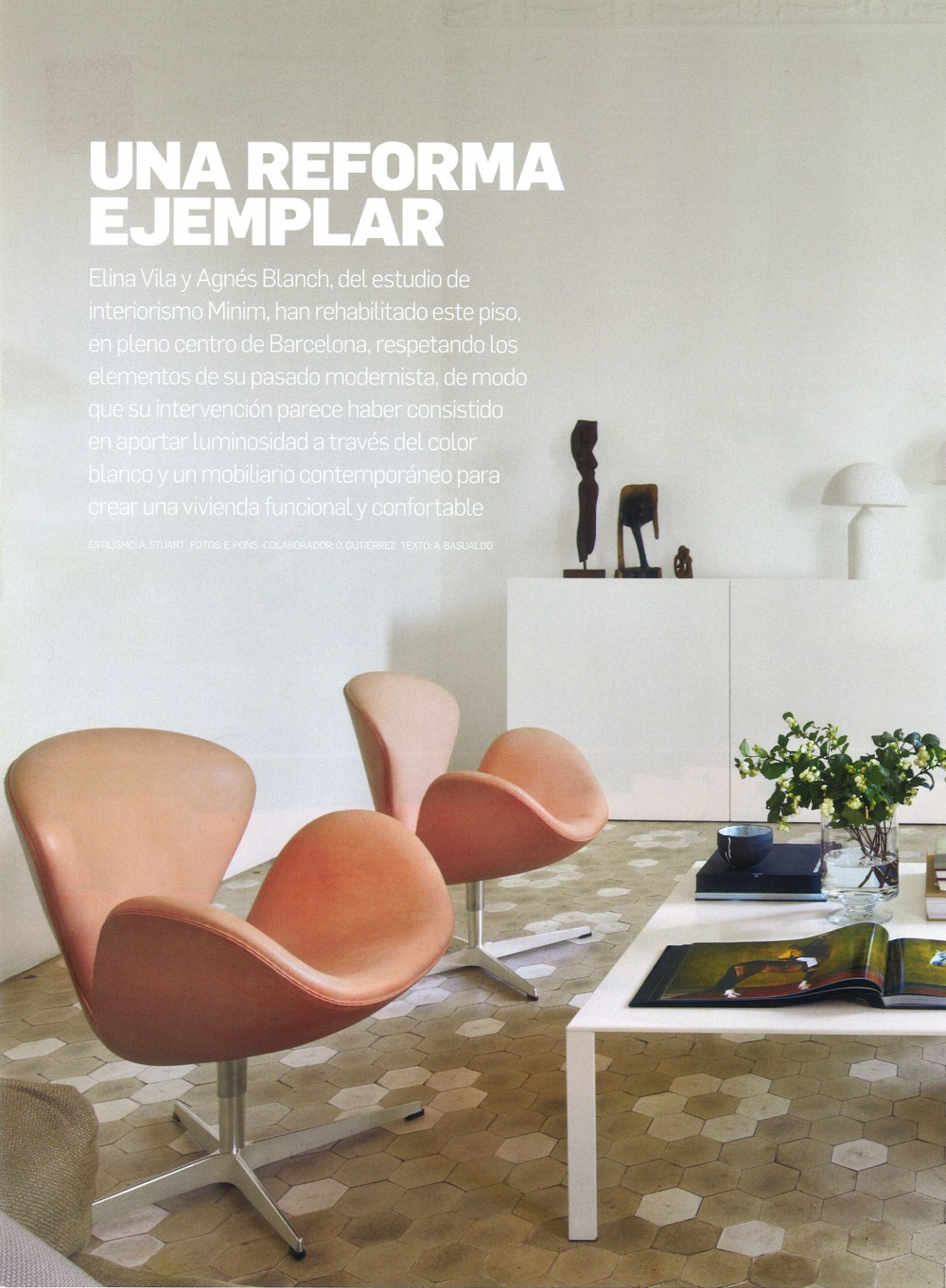 Arquitectura y Diseño 108.,Proyecto de renovación de vivienda en el ensanche de Barcelona