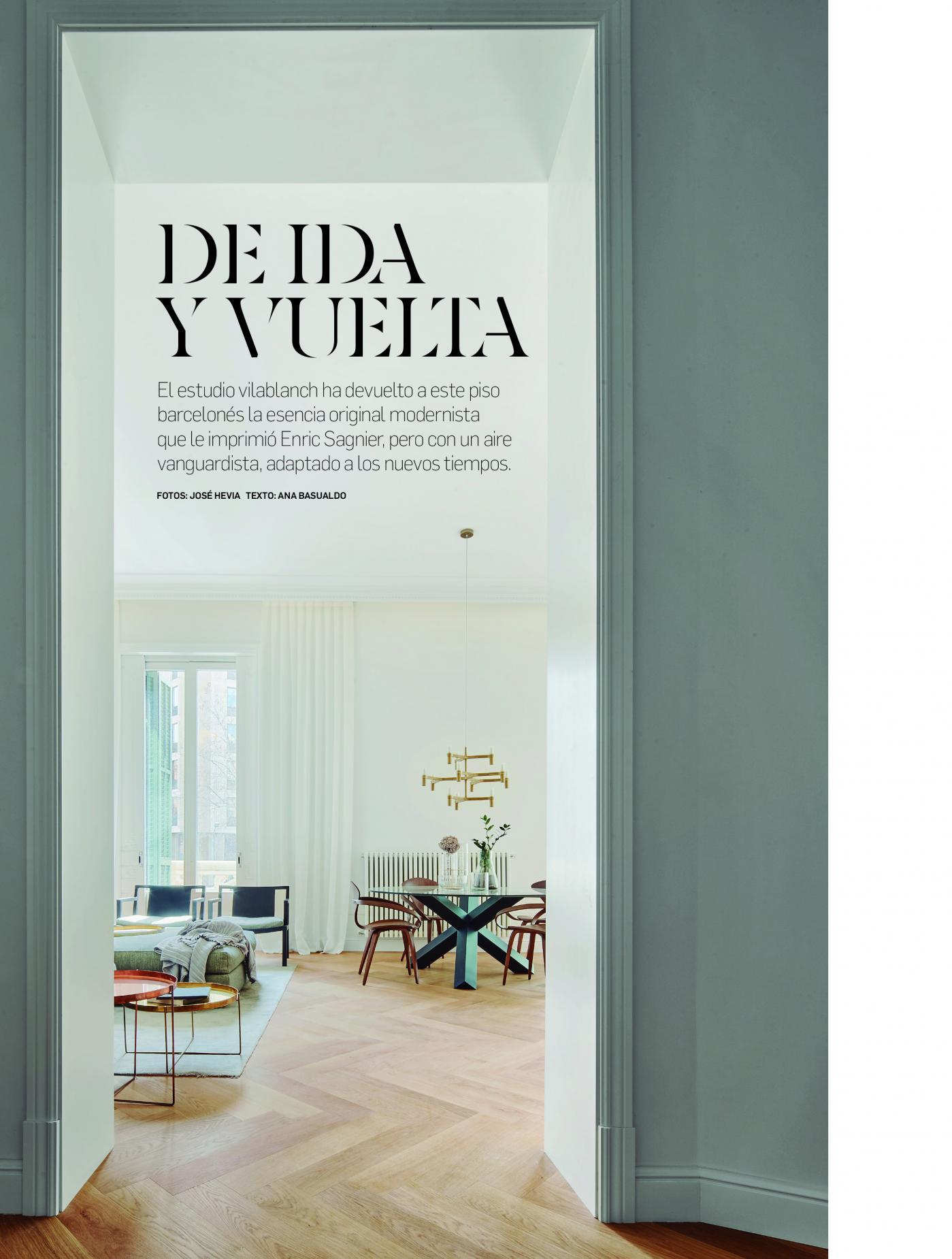 Proyecto vilablanch edificio sagnier barcelona en revista Arquitectura y Diseaño