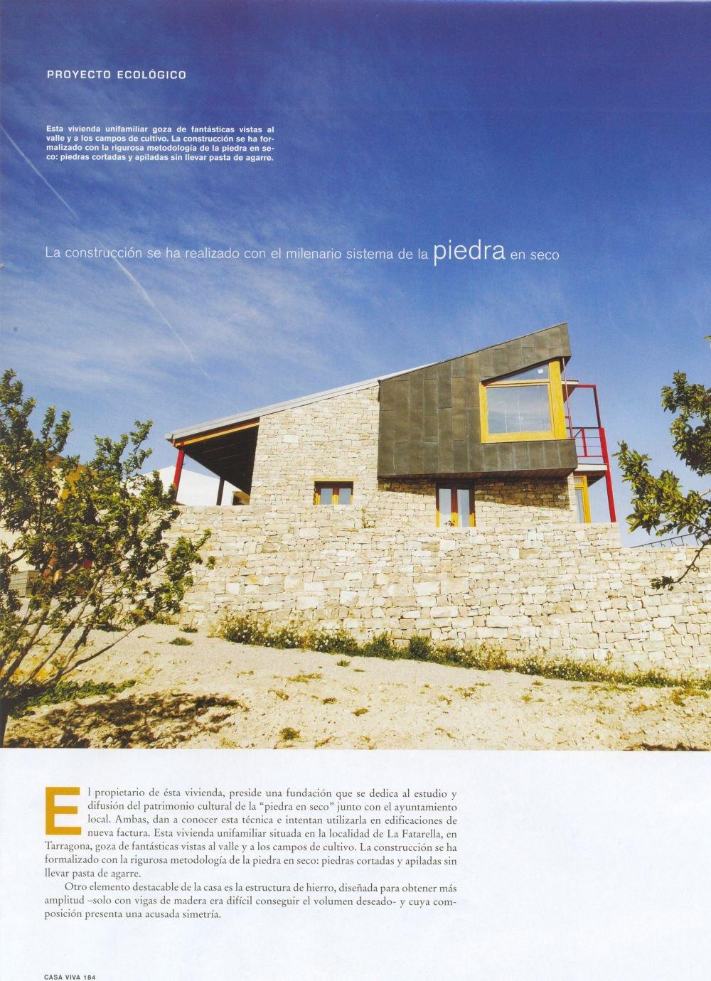 Casa Viva N 86, Casa ecológica en Tarragona.