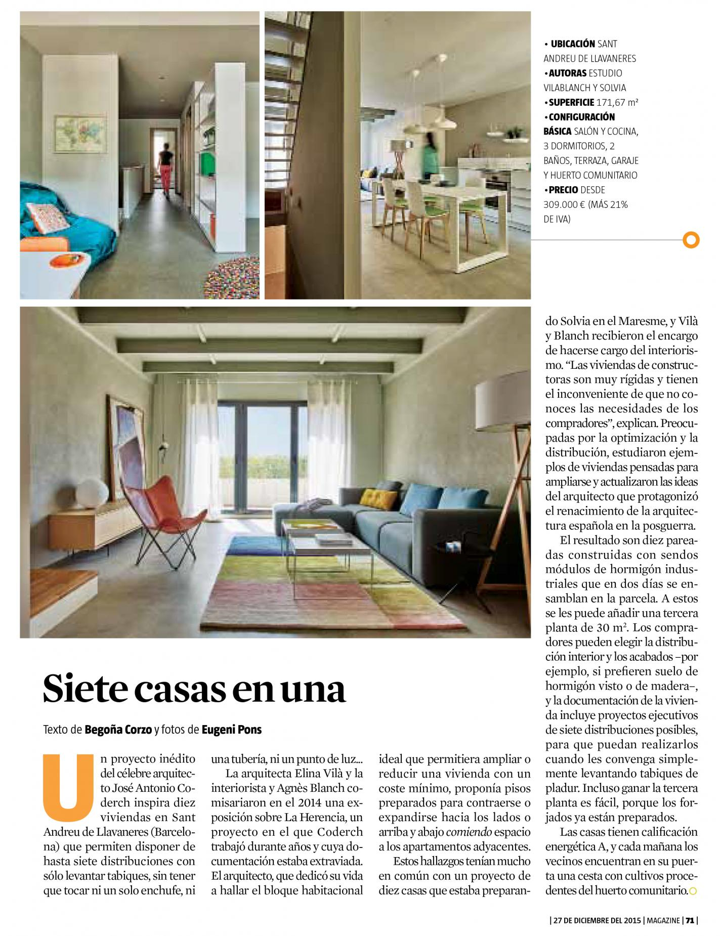 La Vanguardia · Magazine (dic. 2015)