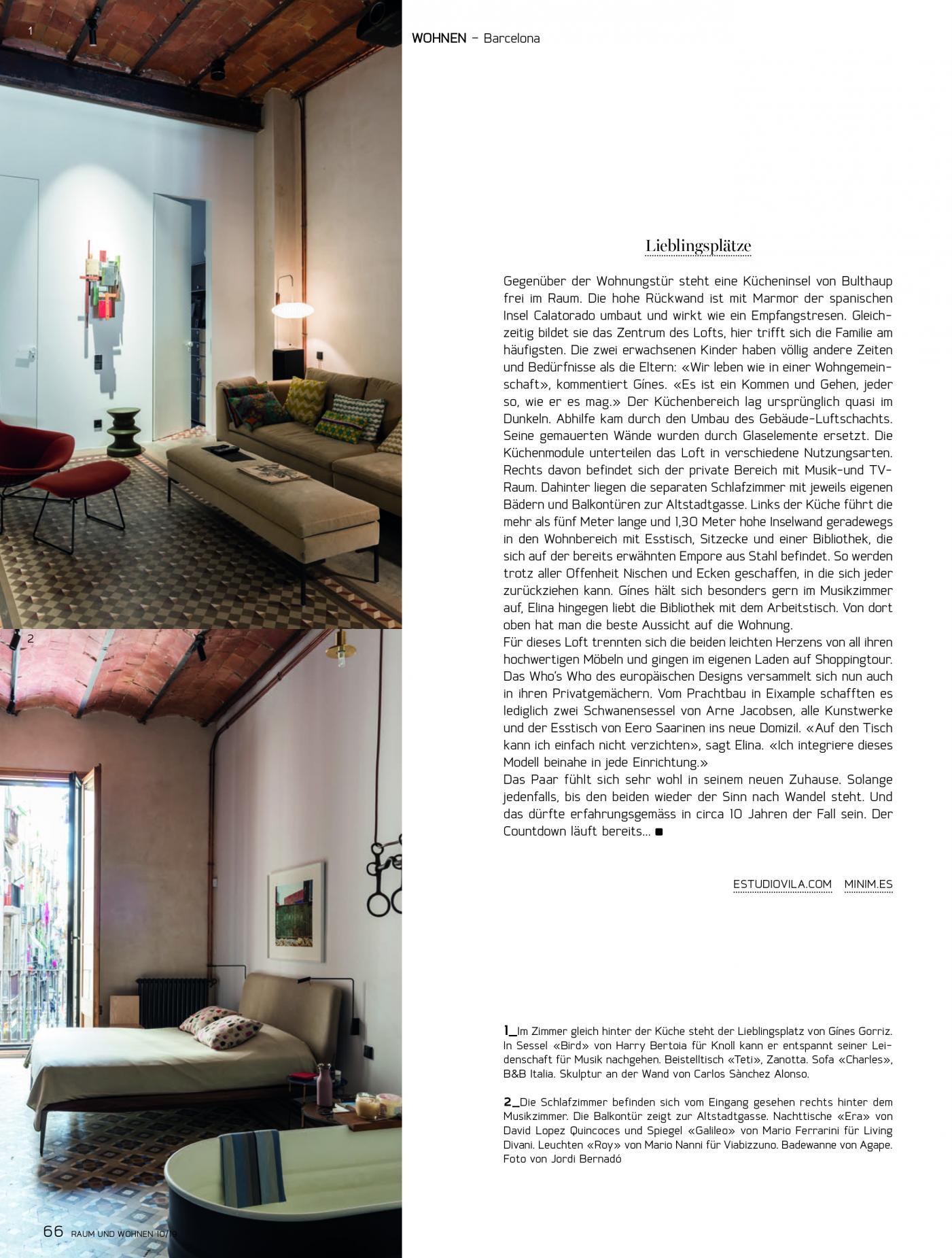 Loft vilablanch Barcelona Raum und Wohnen