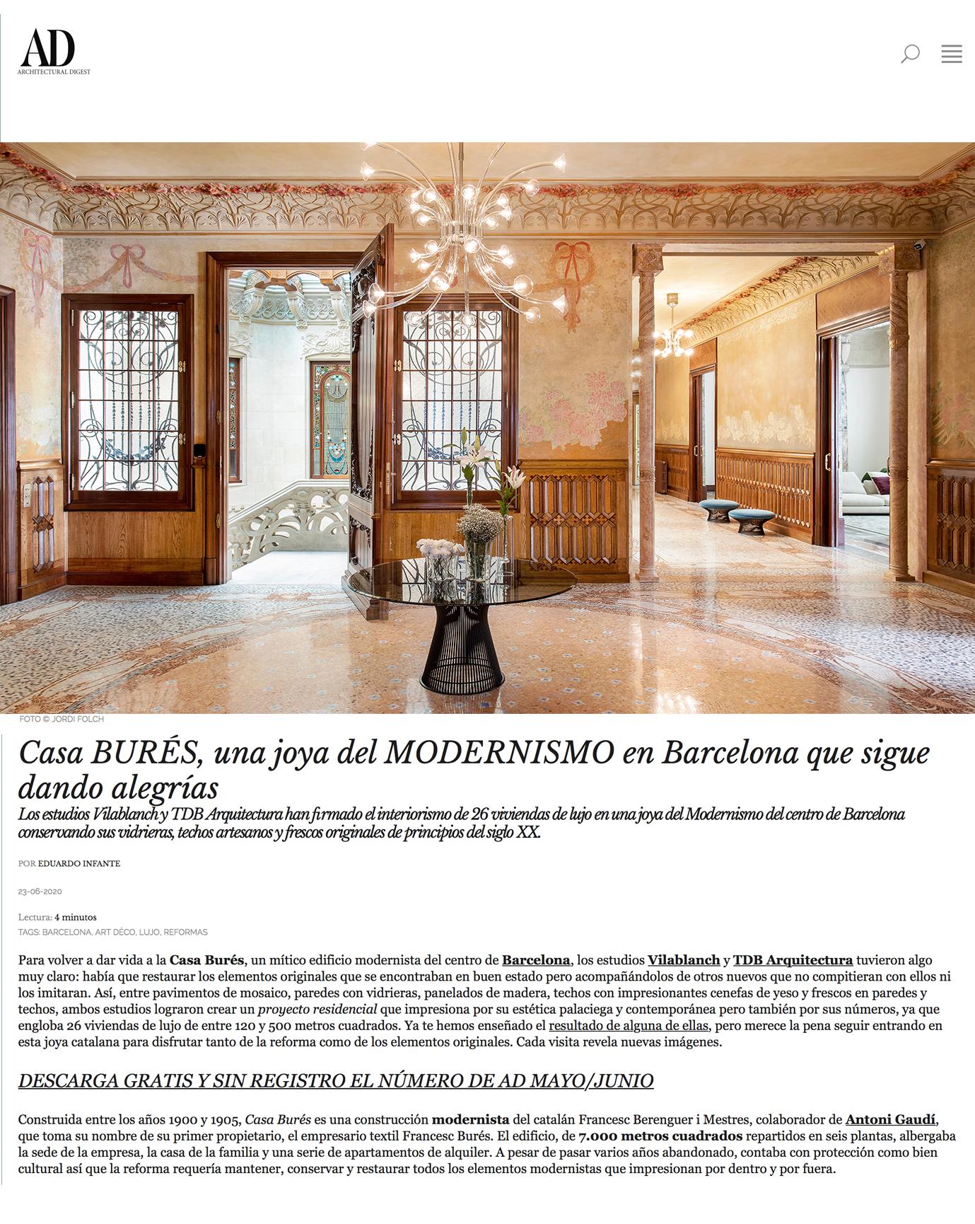AD junio 2020 Casa Bures vilablanch