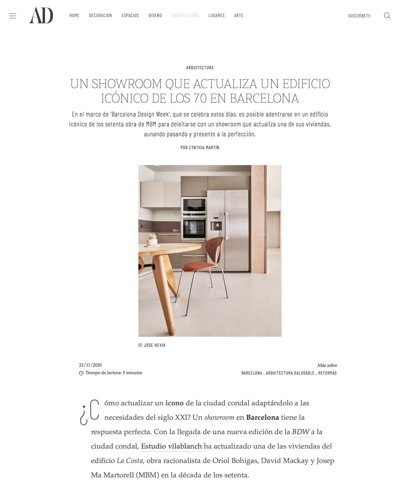 Reforma piso La Costa en los medios · Noviembre 2020