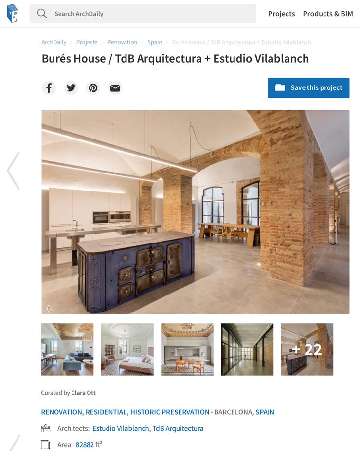 Archdaily · Casa Burés · Marzo 2021