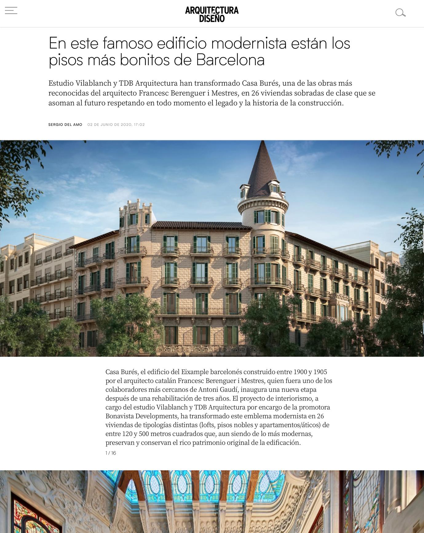 Arquitectura y Diseño Casa Bures vilablanch