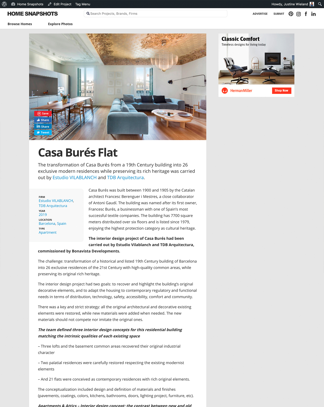 Home Snapshots · Casa Burés · Mayo 2020