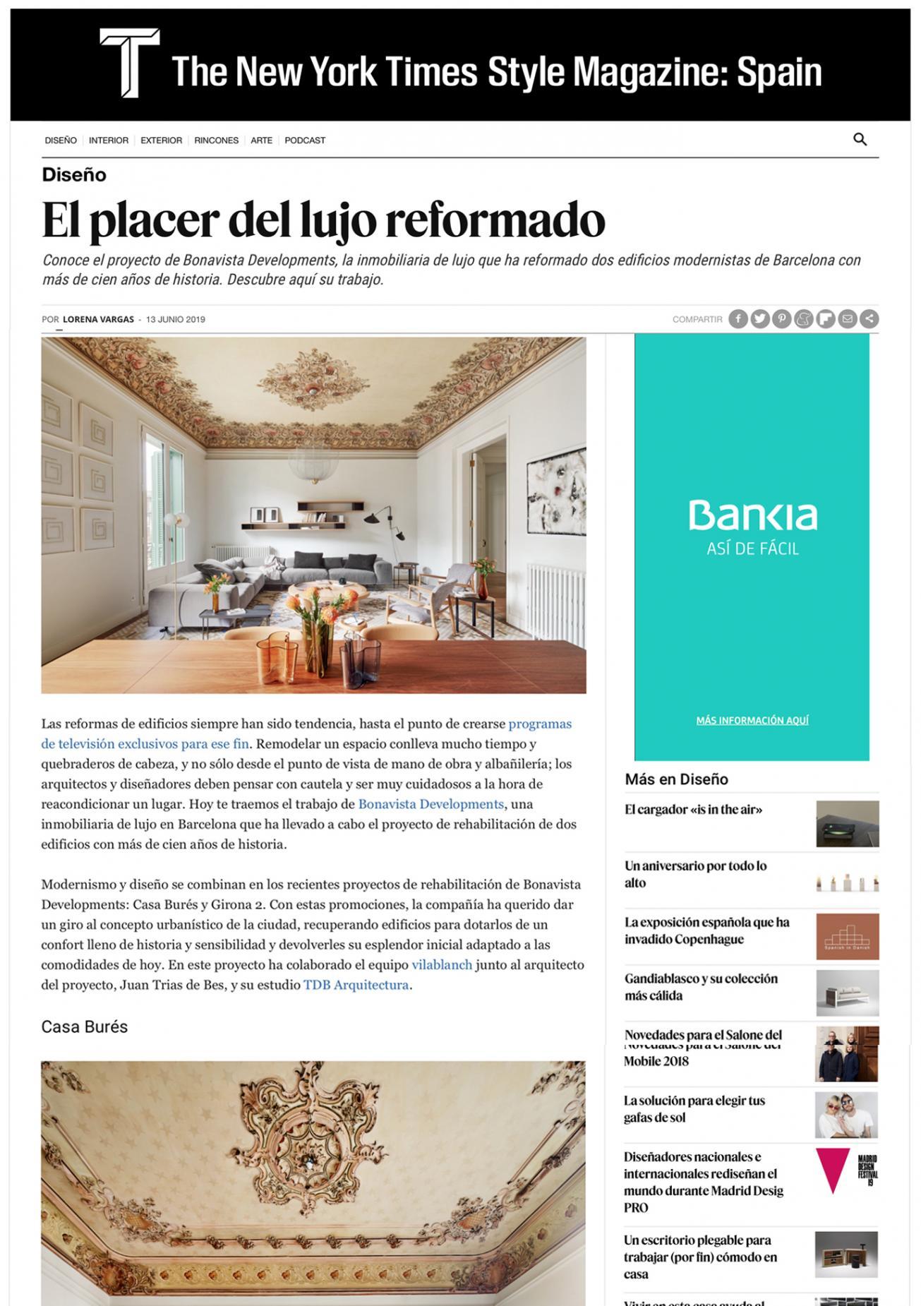 T Magazine · Casa Burés · Junio 2019