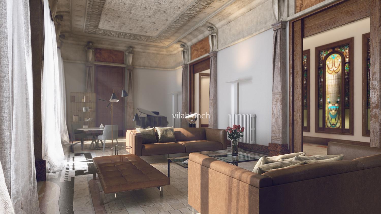 Principales de la casa bur s proyecto de interiorismo - Despacho arquitectura barcelona ...