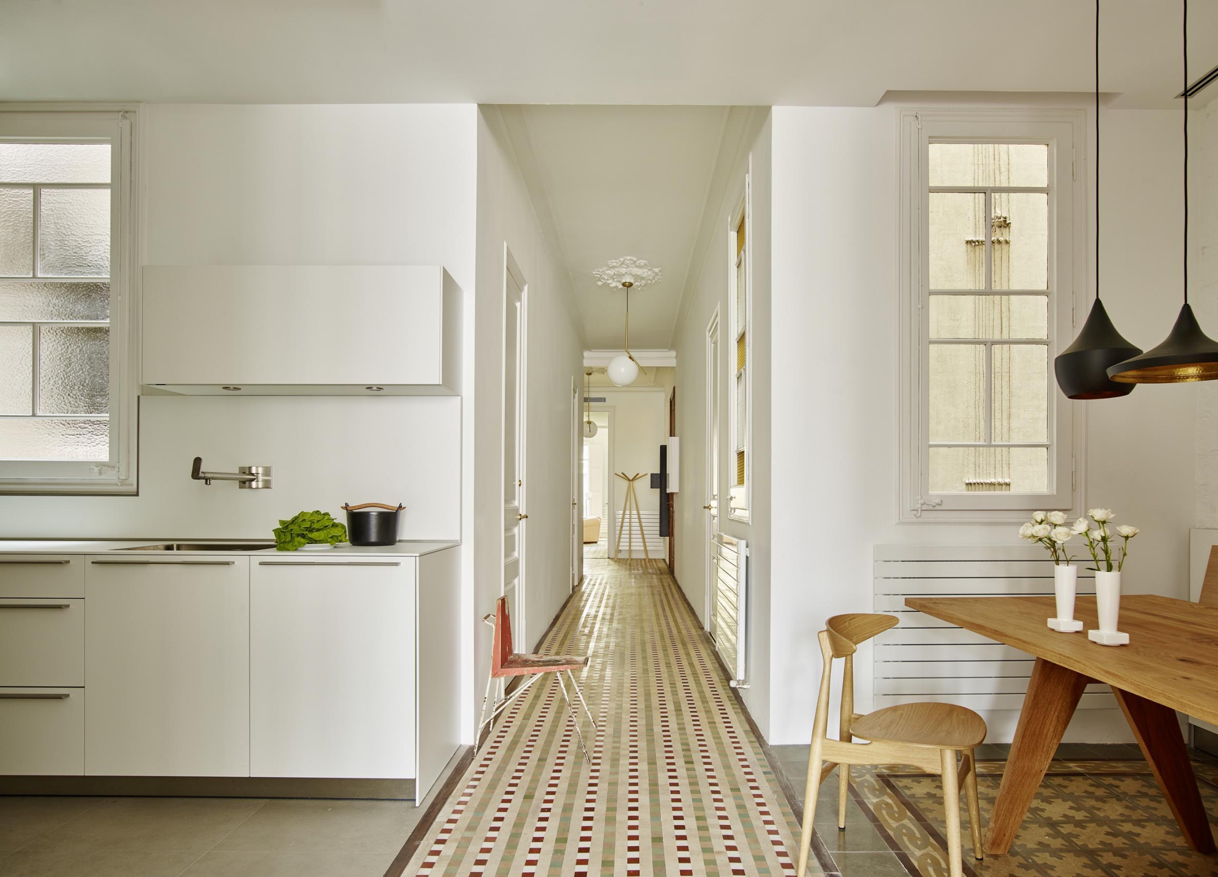 Restauraci n de un piso modernista en el ensanche vilablanch estudio de arquitectura interior - Pisos eixample ...