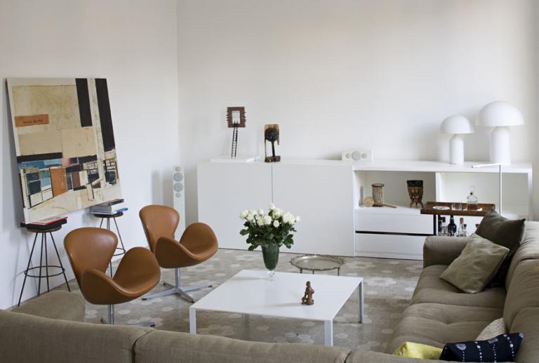 Proyecto de interiorismo vivienda modernista, reforma de piso señorial en el ensanche Barcelona