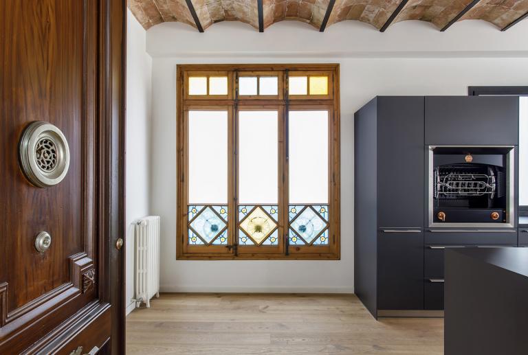 Arquitectura interior de un piso en el Eixample