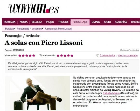 Revista Woman. Entrevista Piero Lissoni
