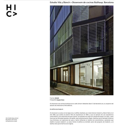 studio vilablanch in HIC arquitectura