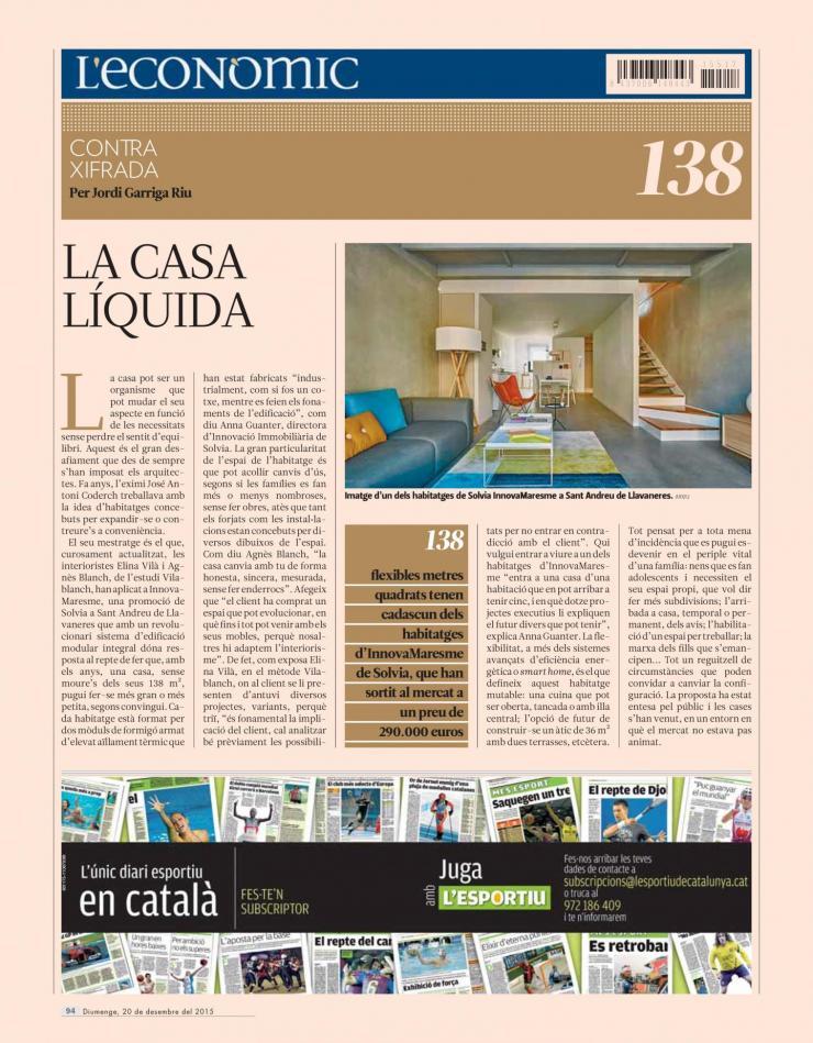 estudio vilablanch proyecto interiorismo Solvia Llavaneras El Punt Avui