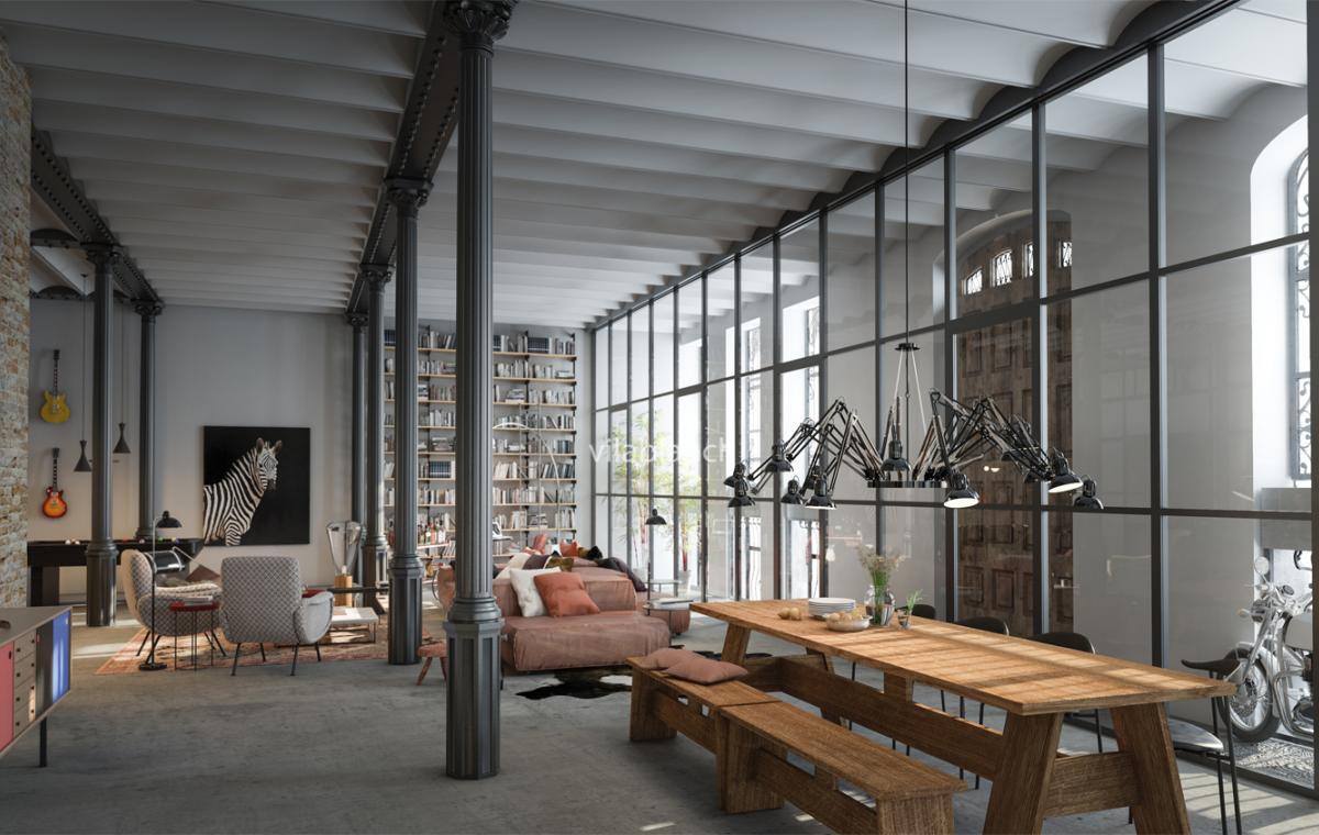 Lofts de la casa bur s proyecto de interiorismo for Estudios de interiorismo barcelona