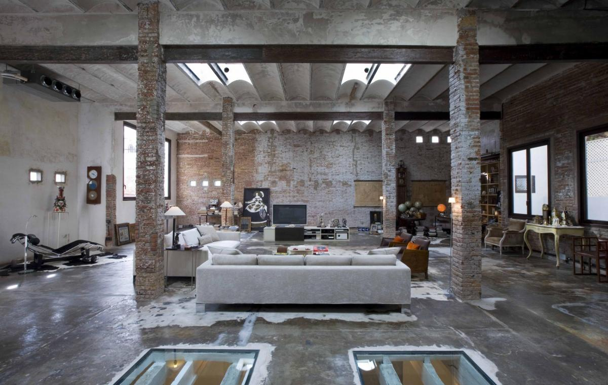 Industrial loft in the center of barcelona vilablanch - Arquitectura interior madrid ...