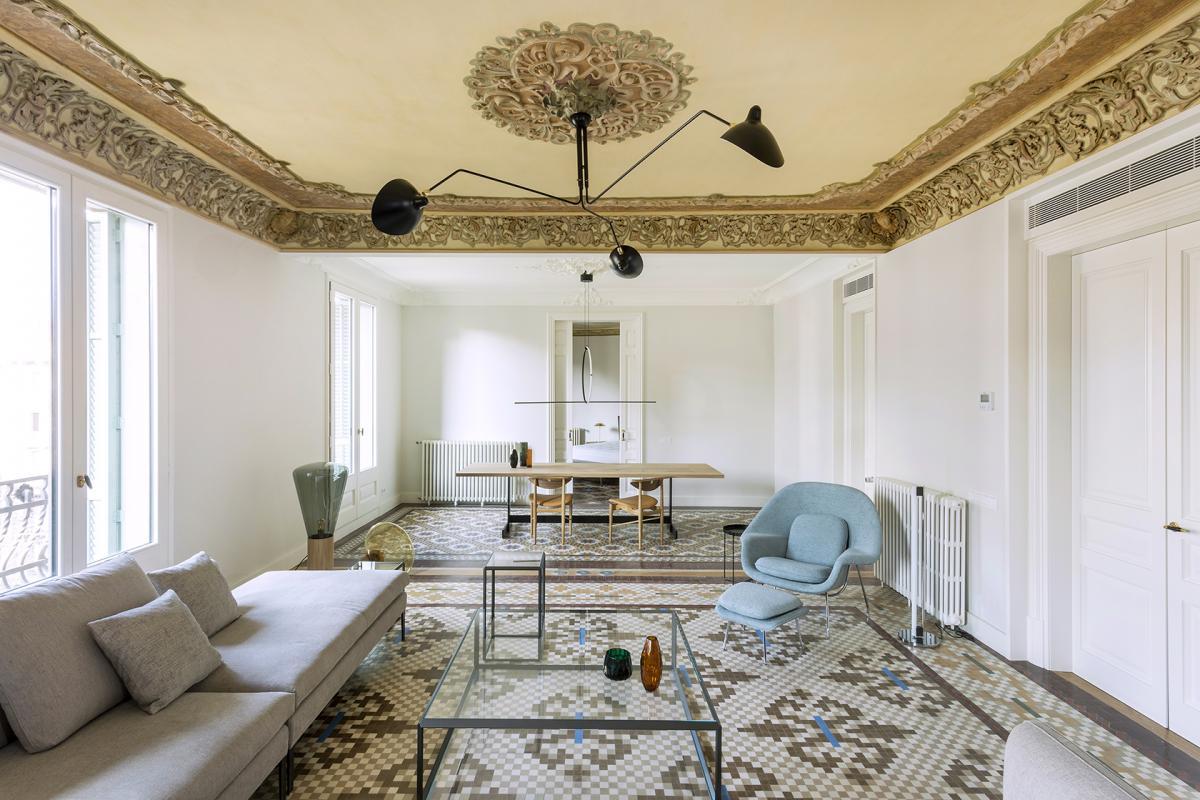 Casa Burés atic interior design photo vilablanch