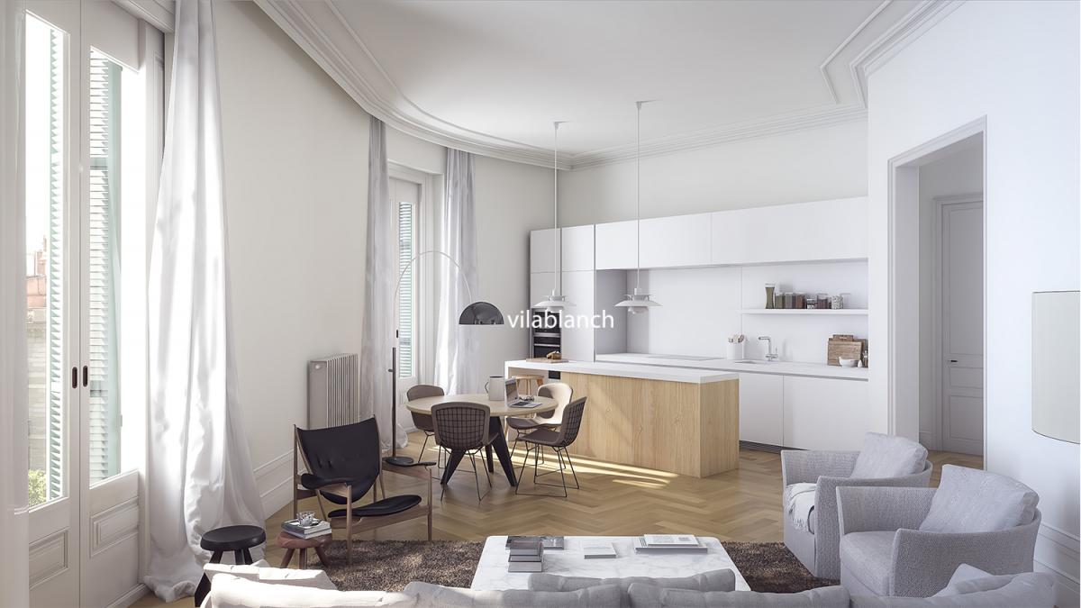Interiorismo de 19 exclusivas viviendas en un emblem tico - Estudios de interiorismo en barcelona ...