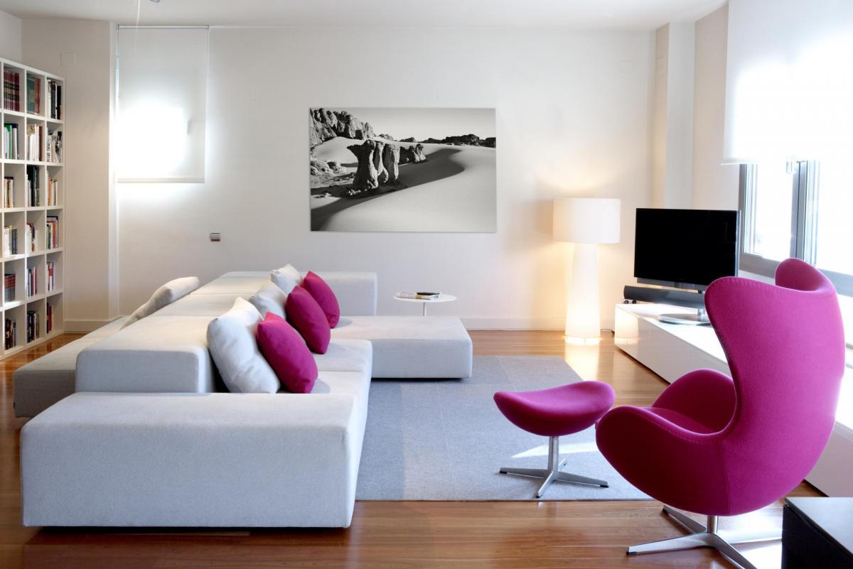 D plex luminoso en paseo bonanova vilablanch estudio de arquitectura interior situado en - Interiorismo de salones ...